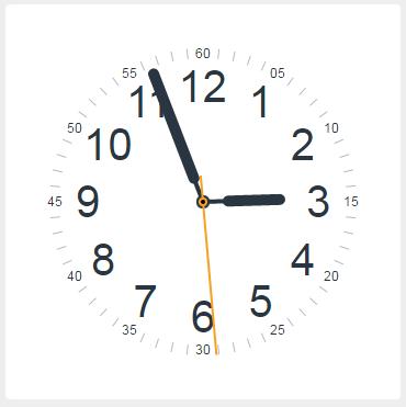 侧边栏时钟