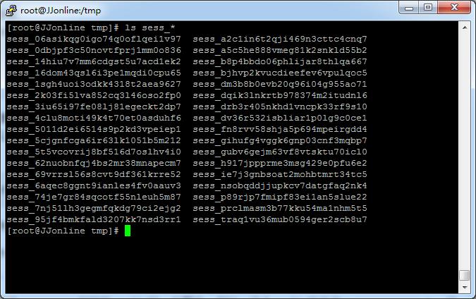 session基于文件产生的服务器端文件