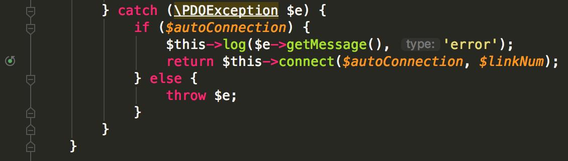 ThinkPHP5.1断线重连